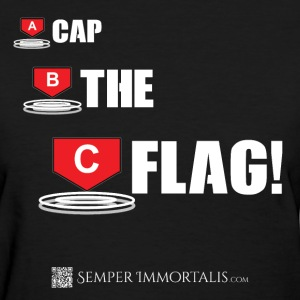 Women's Cap The Flag! shirt - Women's T-Shirt