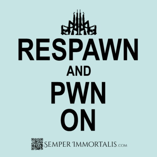 RESPAWN and PWN ON (black)