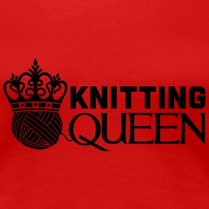 Knitting queen Women's T-Shirts - Women's Premium T-Shirt