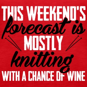 Weekend's forecast is mostly knitting Tanks - Women's Premium Tank Top