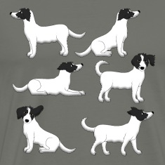 mixed breed white T-Shirts