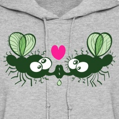 Flies Kissing and Falling in Love Hoodies
