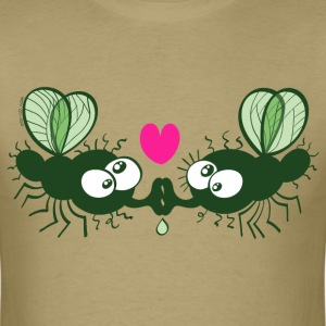 Flies Kissing and Falling in Love T-Shirts - Men's T-Shirt