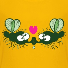 Flies Kissing and Falling in Love Kids' Shirts