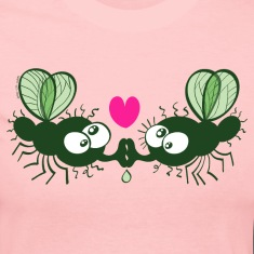 Flies Kissing and Falling in Love Long Sleeve Shirts