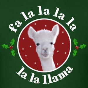Christmas Carol Llama - Men's T-Shirt