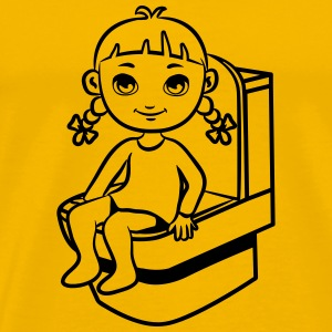 wc little girl T-Shirts - Men's Premium T-Shirt