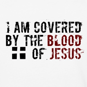 I am Covered by the Blood of Jesus -modern design - Baseball T-Shirt