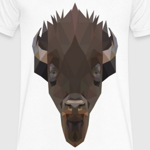 Bison T-Shirts - Men's V-Neck T-Shirt by Canvas