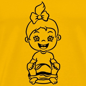 wc loo little girl sitting joy T-Shirts - Men's Premium T-Shirt