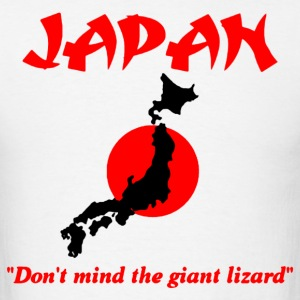 Japan don't mind the giant lizard T-Shirts - Men's T-Shirt