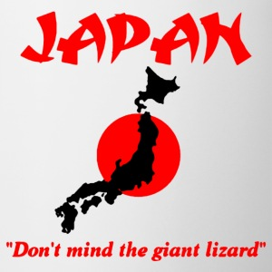 Japan don't mind the giant lizard Mugs & Drinkware - Coffee/Tea Mug