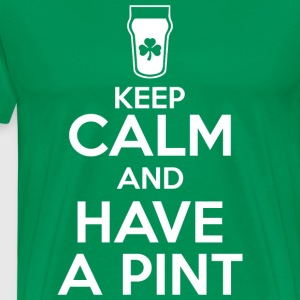 Keep Calm - Pint - Men's Premium T-Shirt