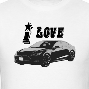 Tesla Model S T-Shirts - Men's T-Shirt