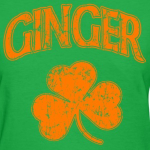 Ginger Orange Shamrock Dark St Patrick's Day Women's T-Shirts - Women's T-Shirt