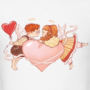 valentines day cupid angel 41 - Men's T-Shirt