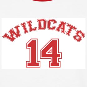 Design ~ MUSICAL WILDCATS - HIGH SCHOOL COSTUME Red Sleeves Shirt