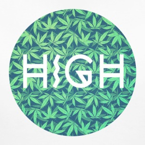 HIGH / cannabis Hipster Typo - Pattern Design  Women's T-Shirts - Women's Maternity T-Shirt