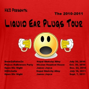 HKO Liquid Earplugs Tour Logo T-Shirts - Men's Premium T-Shirt