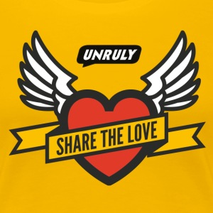 Unruly Share The Love  Yellow Female - Women's Premium T-Shirt