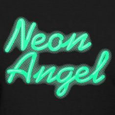 Neon Angel Green Women's T-Shirts