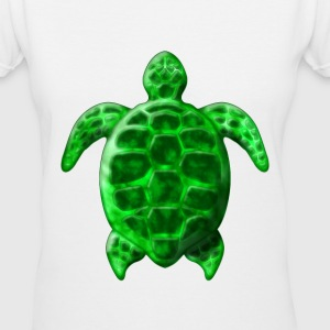 Green Sea Turtle - Women's V-Neck T-Shirt