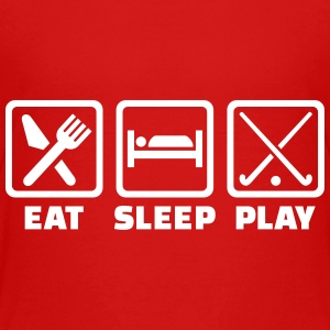 Eat sleep play field hockey Kids' Shirts - Kids' Premium T-Shirt