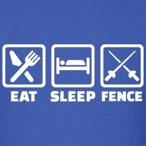 Eat sleep fence T-Shirts - Men's T-Shirt
