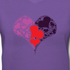 multicolored heart Women's T-Shirts