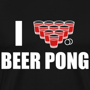 I love beer pong T-Shirts - Men's Premium T-Shirt