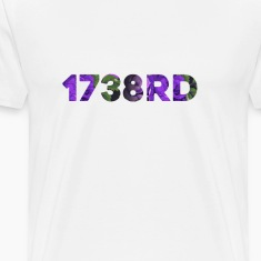 1738rd Purple/Green Floral T-Shirt White