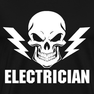 Electrician stupid electrician funny electricia - Men's Premium T-Shirt