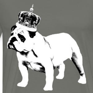 English Bulldog and Crown - Men's Premium T-Shirt