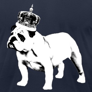 English Bulldog and Crown - Men's T-Shirt by American Apparel