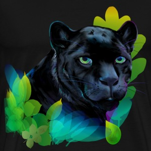 Black Panther and Blended Jungle - Men's Premium T-Shirt
