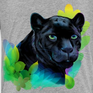 Black Panther and Blended Jungle - Kids' Premium T-Shirt
