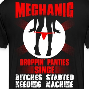 Mechanic lesbian mechanic funny mechanic quantum - Men's Premium T-Shirt