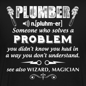 plumber funny plumber wrench plumber carpenter p - Men's Premium T-Shirt