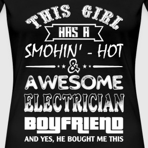 Electrician electrical electrician stupid electr - Women's Premium T-Shirt