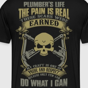 plumber carpenter plumber plumber crack disguise - Men's Premium T-Shirt