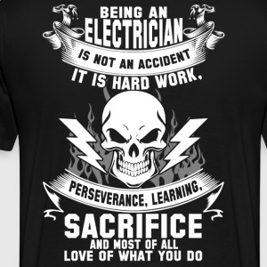 Electrician electrician clothing stupid electri - Men's Premium T-Shirt