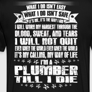 plumber wrench plumber plumber crack disguise f - Men's Premium T-Shirt