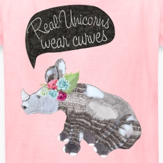 Real Unicorns wear curves Kids' Shirts