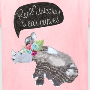 Real Unicorns wear curves Kids' Shirts - Kids' T-Shirt