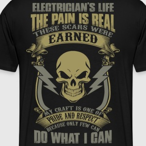 Electrician stupid electrician electrician cloth - Men's Premium T-Shirt