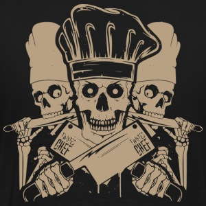 Chef master chef chef skull and cleavers chef (m - Men's Premium T-Shirt