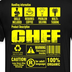 Chef pastry chef pampered chef cook chef grillma - Men's Premium T-Shirt