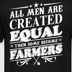 Farmer stupid farmers farmers union farmers pigl - Men's Premium T-Shirt