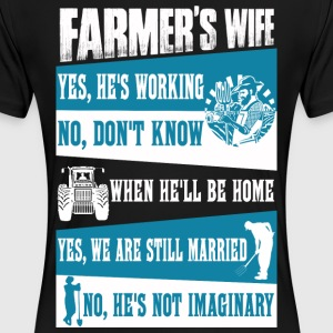 Farmer no farmers no food farmer's wife farmers - Women's Premium T-Shirt