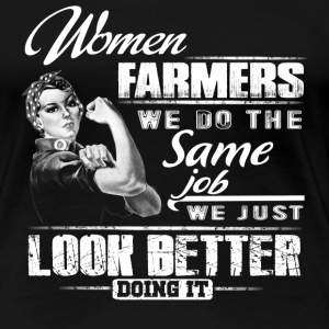 Farmer piglet farmer farmer's wife stupid farme - Women's Premium T-Shirt